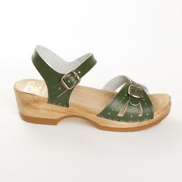 Two Buckle Low Heel Clog Spruce now featured on Fab.
