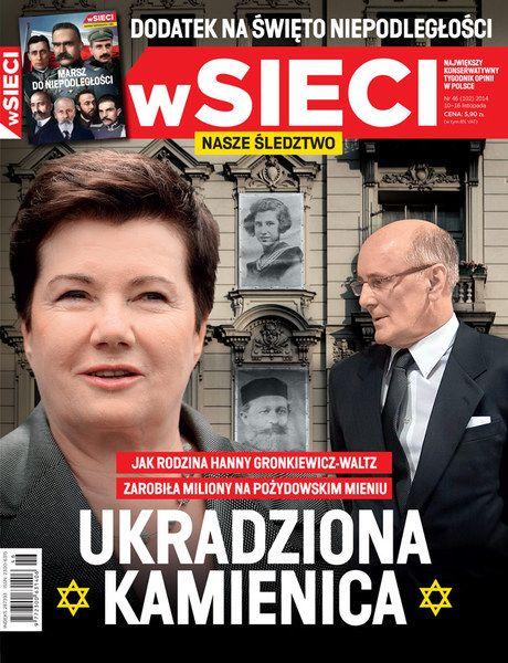 Z dokumentów, do których dotarliśmy, wynika nie tylko to, że kamienica, jakiej część przed ośmioma laty trafiła w ręce męża prezydent Warszawy, została ukradziona prawowitym właścicielom.