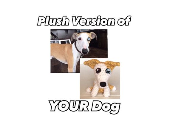 Good to know ... Order a crocheted plush that will look like your pup!