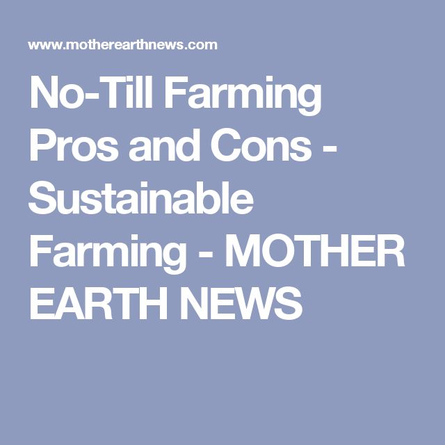 No-Till Farming Pros and Cons - Sustainable Farming - MOTHER EARTH NEWS