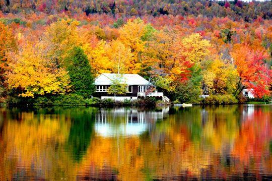 lac Sugarloaf a été prise dans la région des Cantons-de-l'Est à une centaine de kilomètres au sud-est de Montréal près de la frontière des États-Unis.  ©  Gilles Boisset