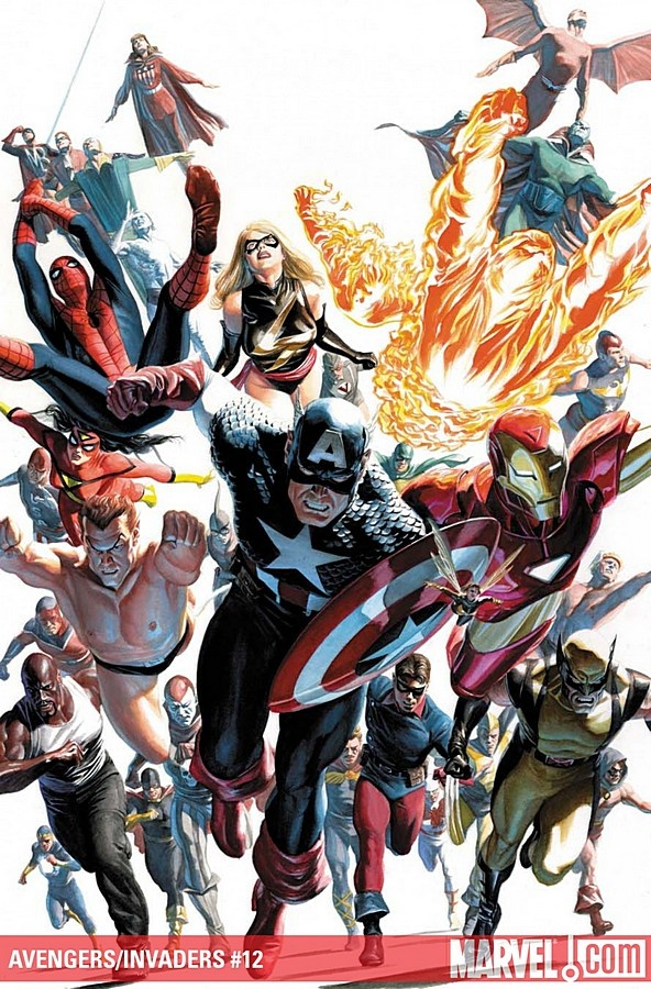 Avengers/Invaders #12 - Cover by Alex Ross | Marvel comics ...