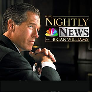 Brian Williams. I like his news reporting and I enjoyed seeing him & his son at the NASCAR race