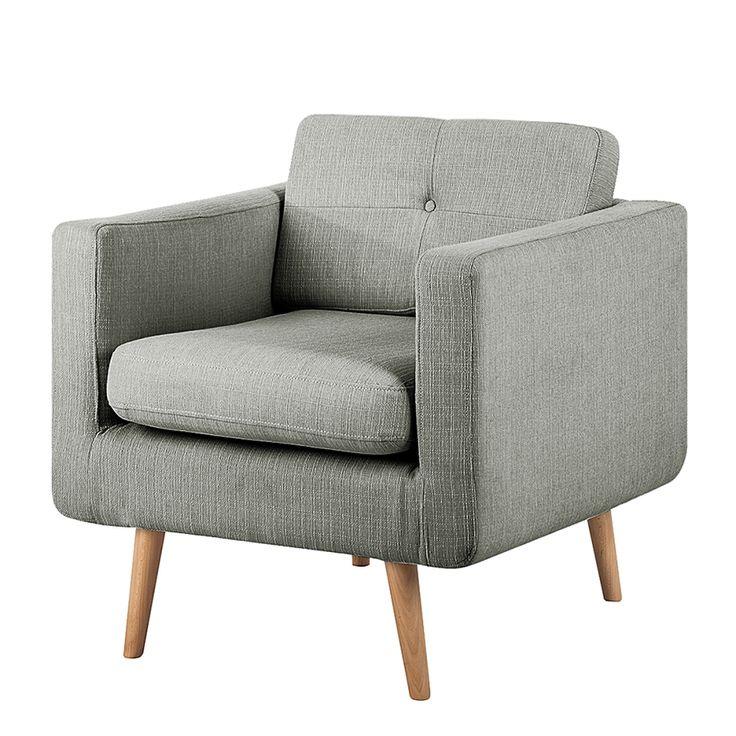 Sessel Croom - Webstoff Grau