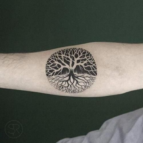 Like the negative space of this tree...maybe for a coverup...