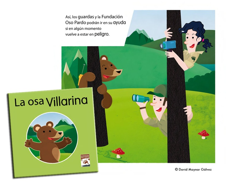La Osa Villarina. Illustrated book. Fundación oso pardo