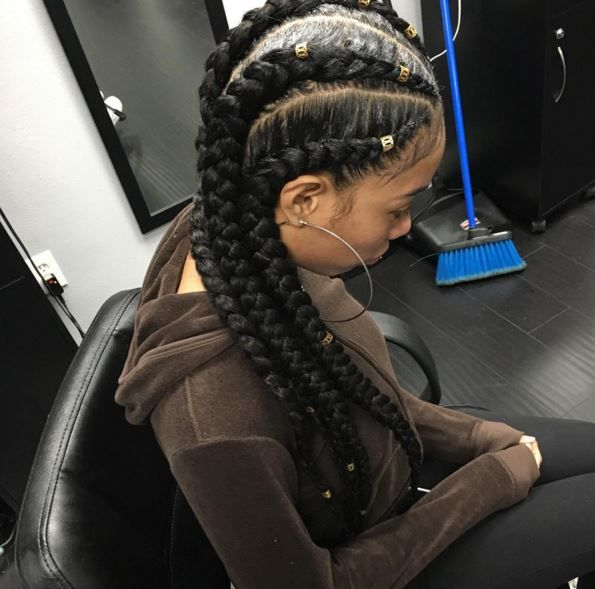 Jumbo Corn Rows Hairstyles Braids