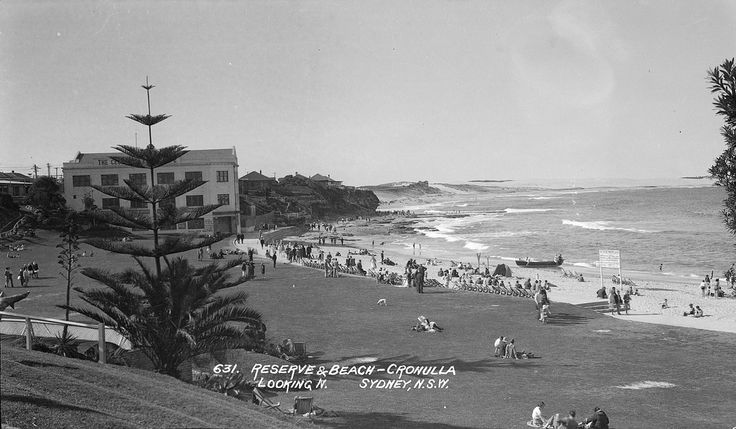 Reserve and beach, Cronulla, Sydney, ca. 1928 / Samuel Wood | Flickr - Photo Sharing!
