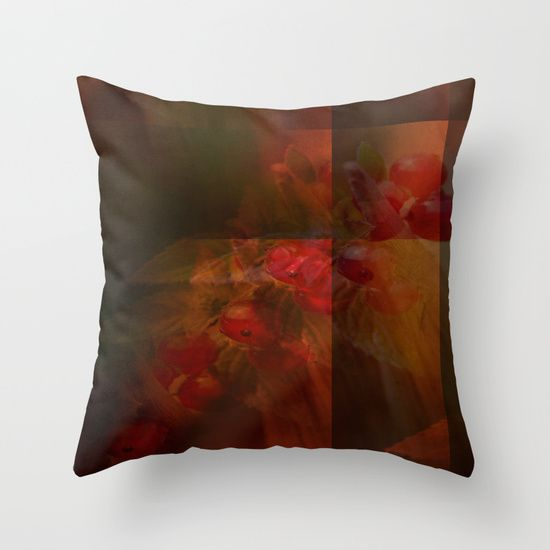 Foodie Abstraction Throw Pillow