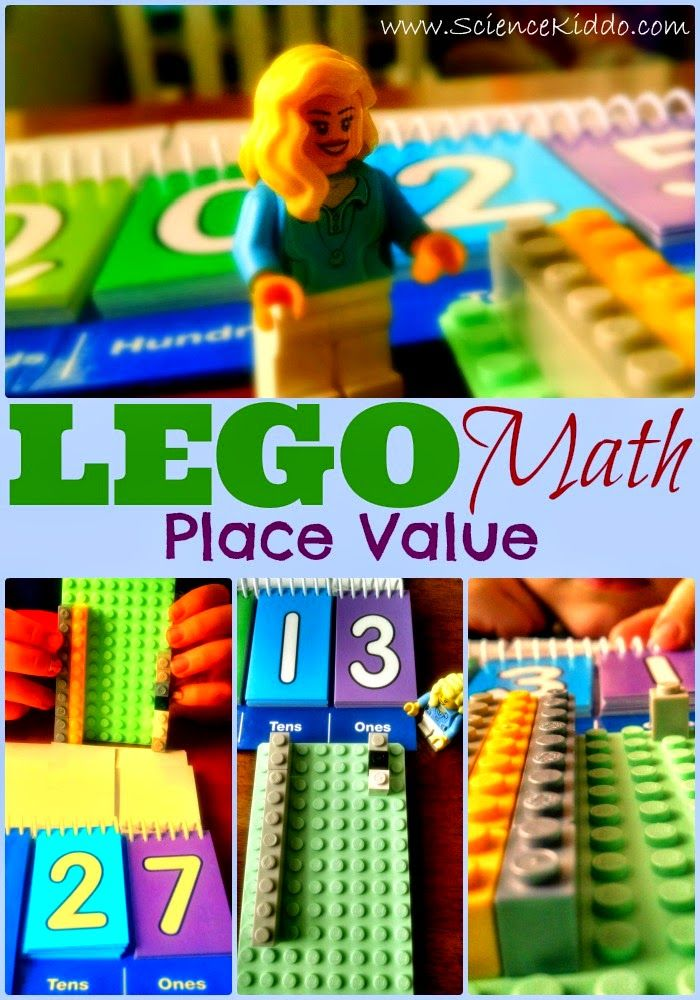 LEGO Math for Kids | Place Value. Teach base-ten place value using a concrete, hands-on, fun and easy method. You have got to try this! ScienceKiddo.com