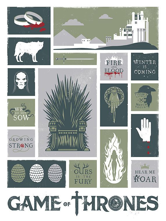 Game of Thrones, Song of Ice and Fire, Fantasy, Poster, Art Print
