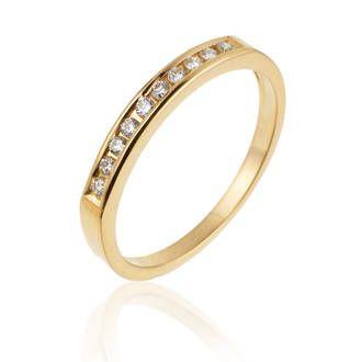 Achat Alliance Femme or jaune 1.88g, Diamant 0,15 ct - Le Manège à Bijoux