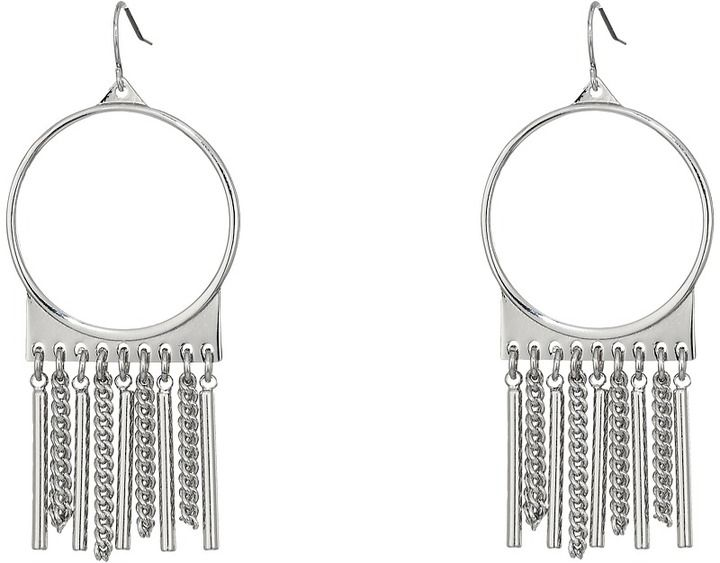 Steve Madden Ring with Chain Fringe Fish Hook Earrings