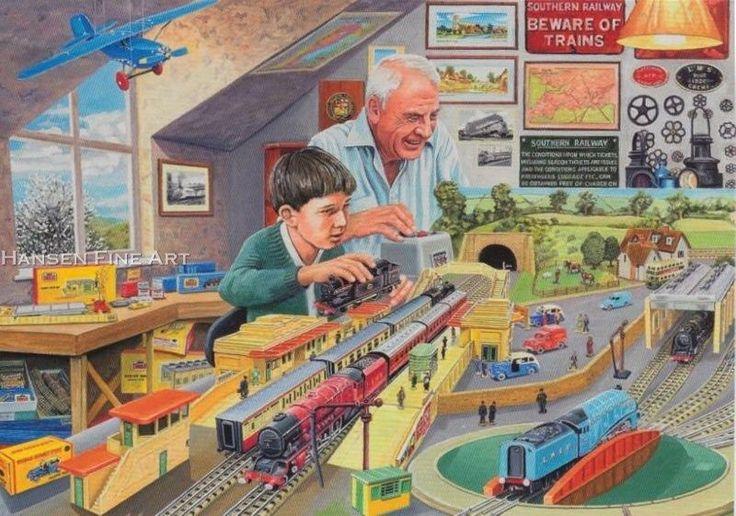 Hornby Railway Tri-ang Model Making Boys Mens Train Set Birthday Card | eBay
