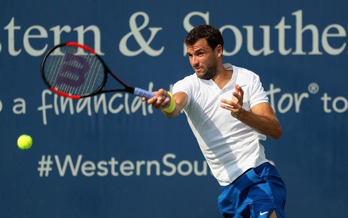 Download wallpapers Grigor Dimitrov, ATP, tennis, portrait, Bulgarian tennis player