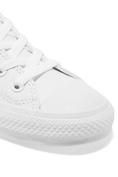 Converse - Chuck Taylor All Star Leather Sneakers - White - UK5