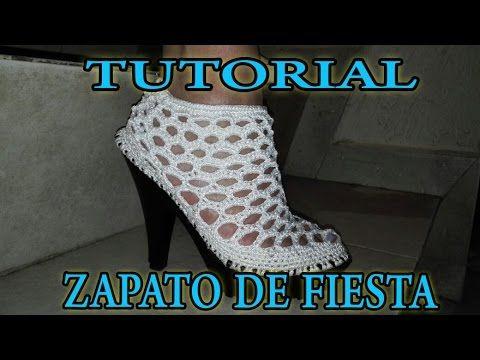 Zapatos Elegantes a Crochet / Tutorial  | Todo crochet