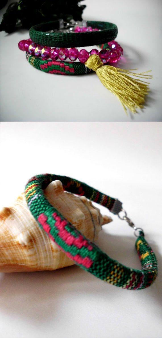 Three sets of bracelets/Boho bracelet/Aztec by Theworldofjewelry