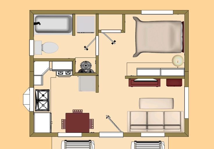 300 square foot house plans - Google Search