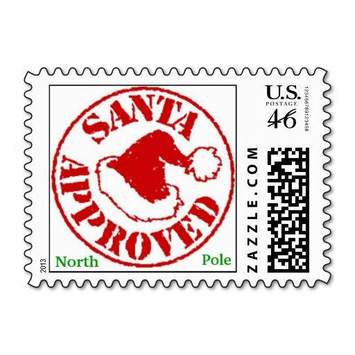 SANTA APPROVED Christmas Stamps from North Pole
