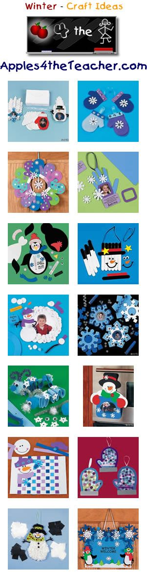 Fun Winter crafts for kids - Winter craft ideas for children.   www.apples4thetea...