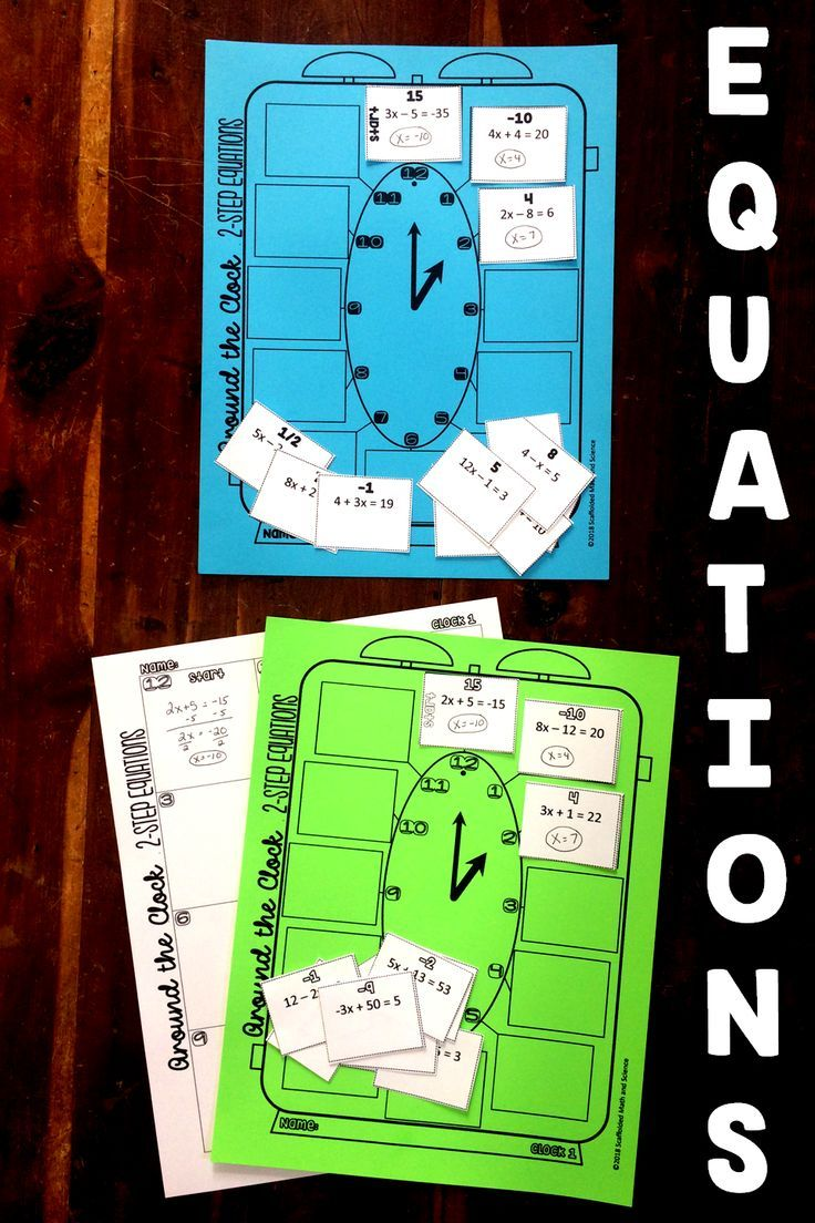 Equations Partner Scavenger Hunt Bundle | Solving equations, Algebra ...