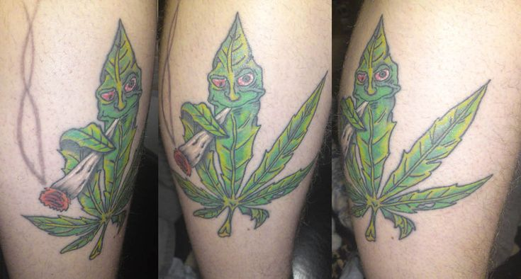420 pot leaf tattoo - Google Search