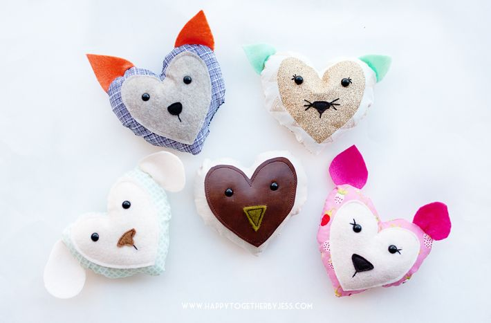 Free Heart Animals Pattern