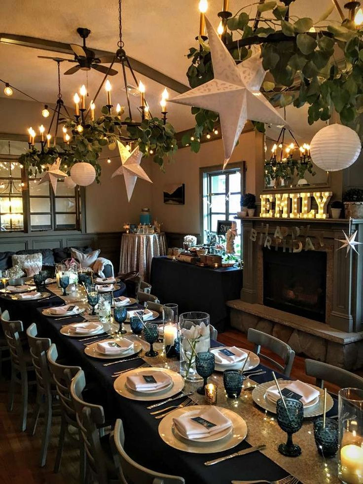 Don't you just love the look and feel of this Under the Stars Sweet 16?! See more party ideas and share yours at CatchMyParty.com