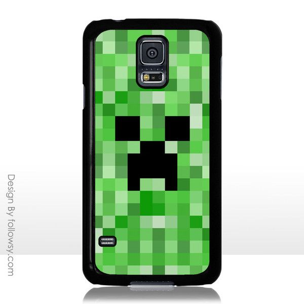Minecraft Creeper iPhone 4 4S 5 5S 5C iPod Touch 4 5 Samsung Galaxy S5 S4 S3 Case Galaxy Note 3 Case