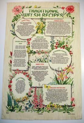 Welsh Tea Towel - Traditional Welsh Recipes