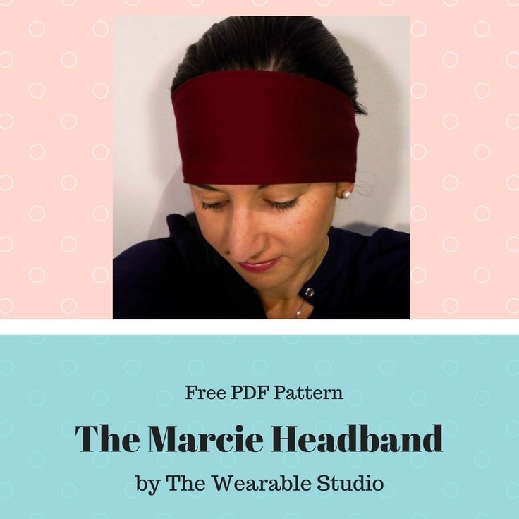 The Marcie Headband free downloadable PDF pattern.