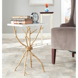 @Overstock - Add style to any room with this artistic metal accent table. Made out of durable white-granite top and a brass frame, it fits well with any decor. This table measures 22high x 14 wide x 14 deep and features legs that resemble tree branches.http://www.overstock.com/Home-Garden/Hidden-Treasures-White-Granite-Brass-Accent-Table/6811738/product.html?CID=214117 CAD              433.01