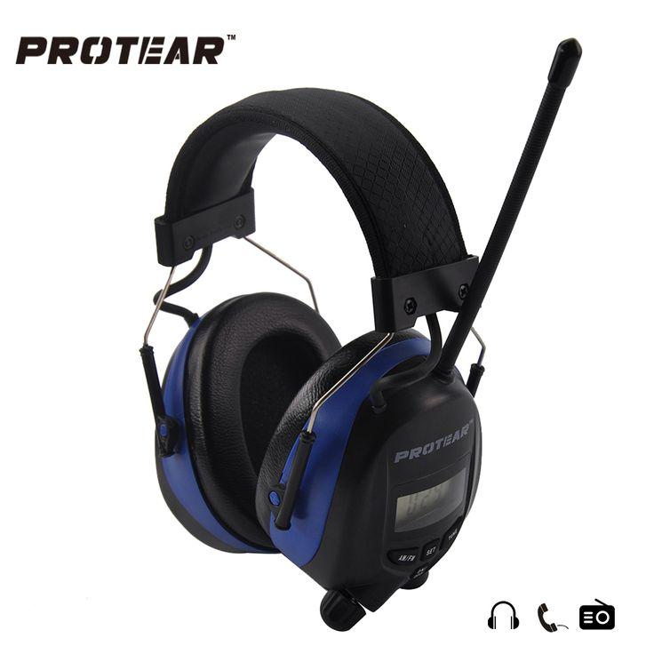 Protear NRR 25dB AM FM Radio Orejeras Protector Auditivo Electrónico de Disparo Electrónico Orejera Auriculares Protectores para los Oídos