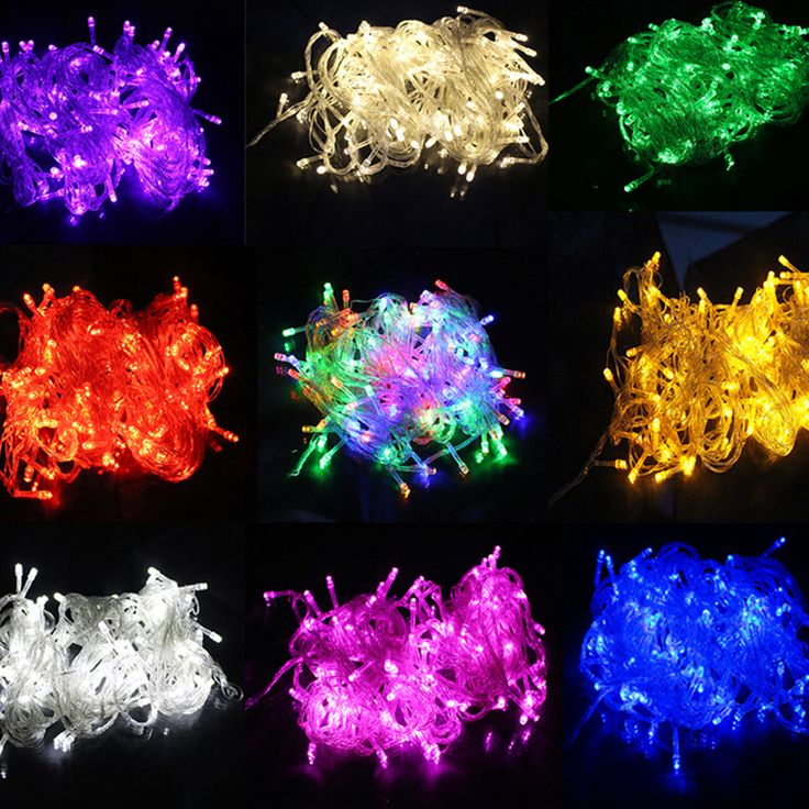 Multi-Color Colorful Linkable Led String Lights For Holiday Christmas Party Decoration (10M, 100LED) - фото 2