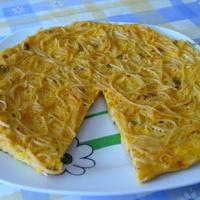 Spaghetti omlette