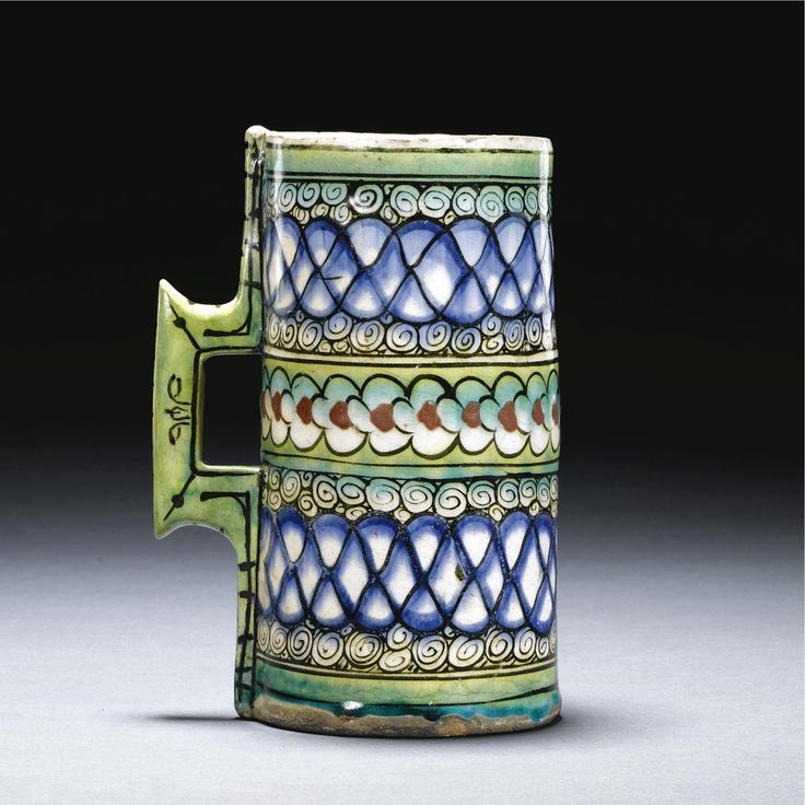 An Iznik Polychrome Tankard, Turkey, <P>Circa 1600</P> | Lot | Sotheby's
