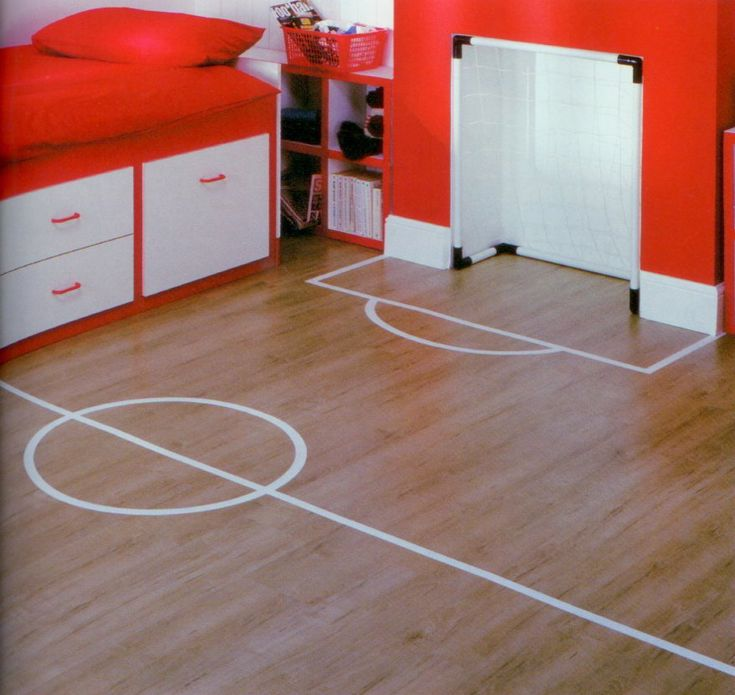 this is so cool!!!! I wish I could have a soccer goal in my bedroom!!⚽ little boys soccer bedroom