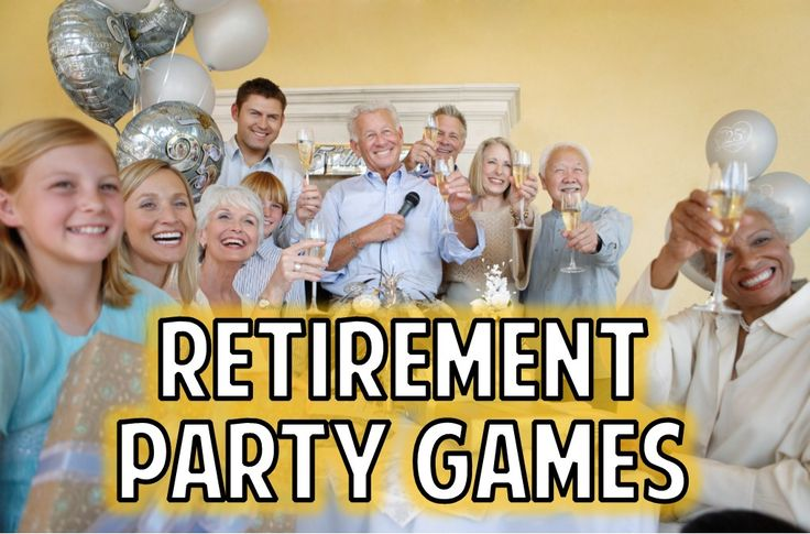 Fun list of retirement party games to help make your retirement party fun and memorable.