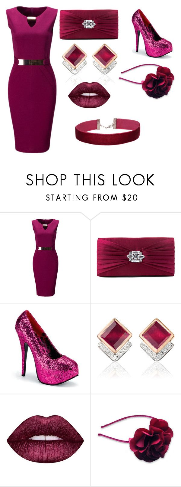 """Untitled #14"" by saucyy1nana ❤ liked on Polyvore featuring WithChic, Gunne Sax By Jessica McClintock, Monica Vinader, Lime Crime and Miss Selfridge"