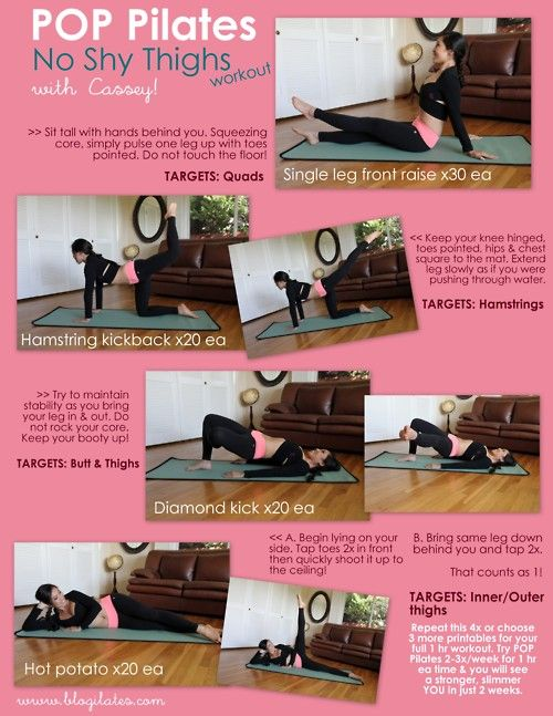 blogilates:    New printable just for you! I guess it's thighs week :) Be sure to read the side notes for tips & pointers. Have fun!  What I'm wearing:  TOP: Kayayogawear Bolero Wrap, $58.50  BOTTOM: Body Language Basic Legging with coral band, $76