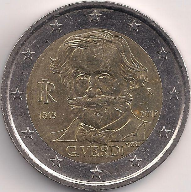 Motivseite: Münze-Europa-Südeuropa-Italien-Euro-2.00-2013-Giuseppe Verdi