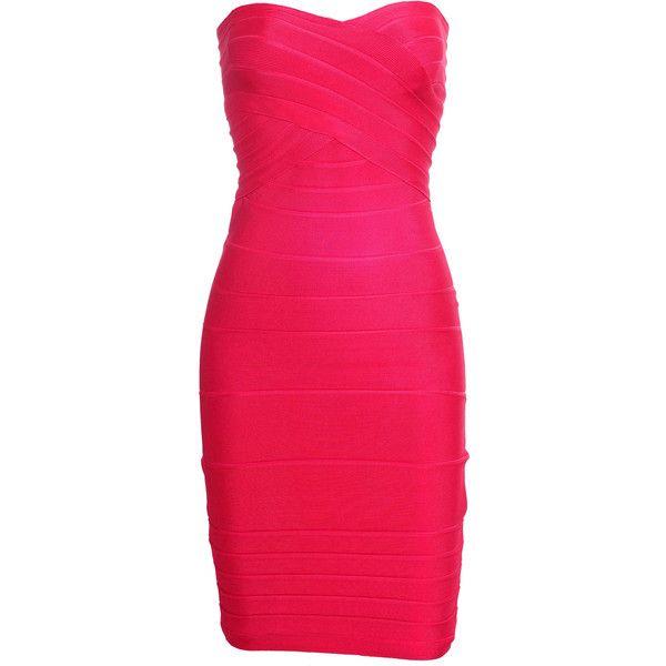 Celebboutique.com - Bestseller Dress:: 'Adelisa' Hot Pink Strapless... ($141) ❤ liked on Polyvore