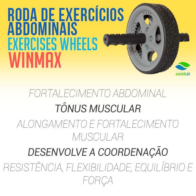 A Roda de Exercícios Abdominais WinMax, garante um resultado altamente espetacular e satisfatório, pois trabalha todos os músculos abdominais, ombros, cintura e costas de forma intensa e com muita definição