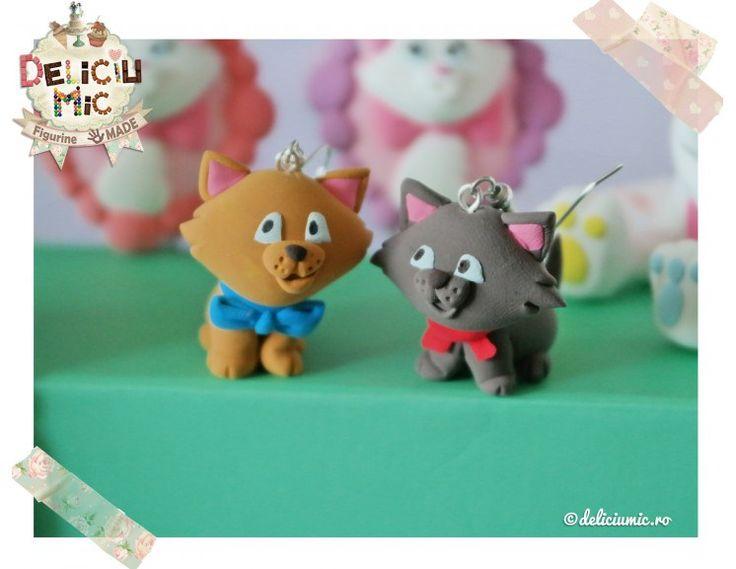Cercei handmade cu pisicuțe
