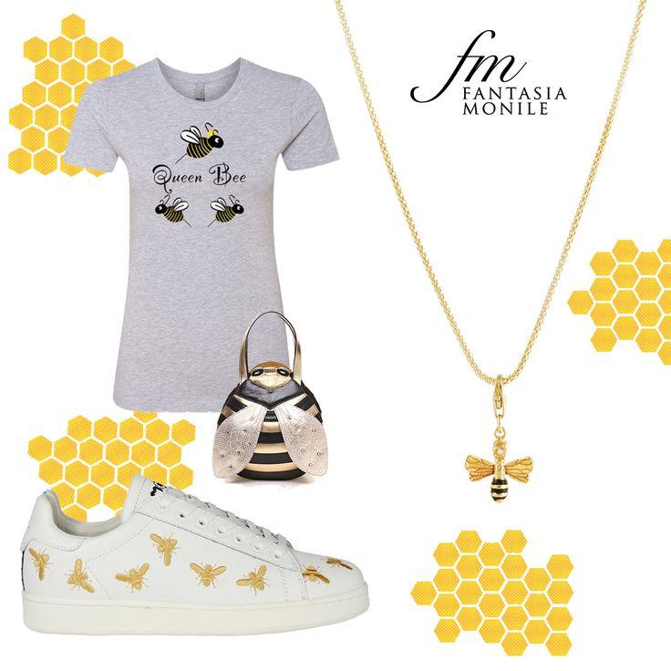 Collana in argento dorato e charm a forma di ape, piccola miniatura in argento e smalto. Made in Italy, Gaetano Vitiello Jewellery Shop www.fantasiamonile.com