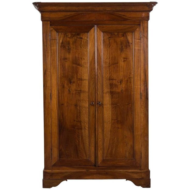 Beau French Louis Philippe Walnut Armoire, Circa 1850