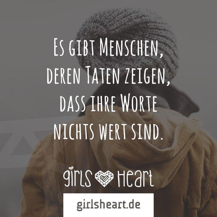 Mehr Sprüche auf: www.girlsheart.de #worte #taten #enttäuschung #menschen #freunde #freundinnen #enttäuscht #wut #trauer #ärger