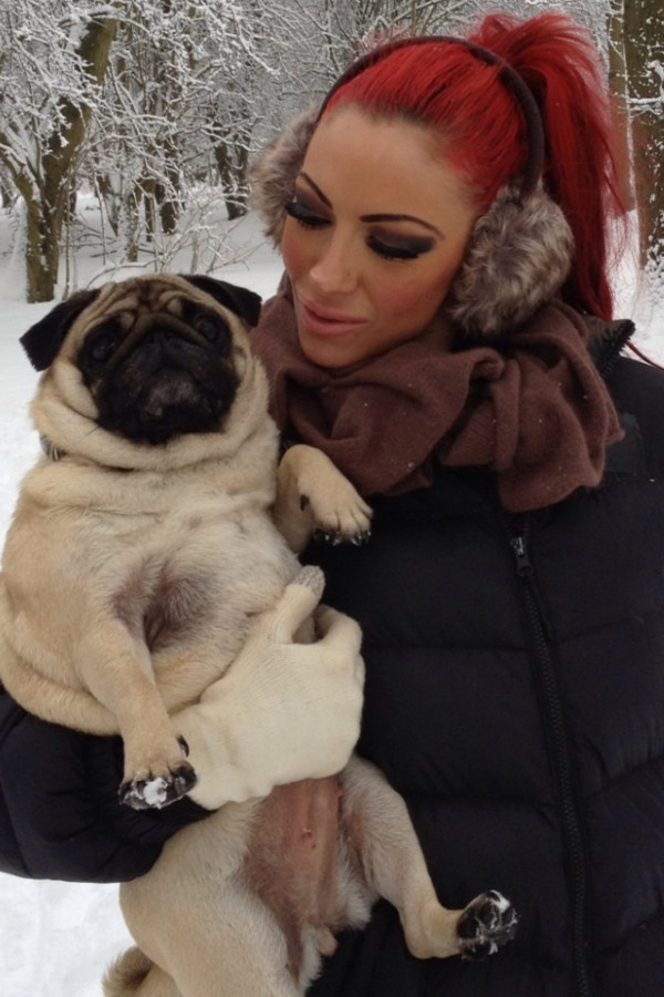 Jodie Marsh & her lovely pug Peggy Sue