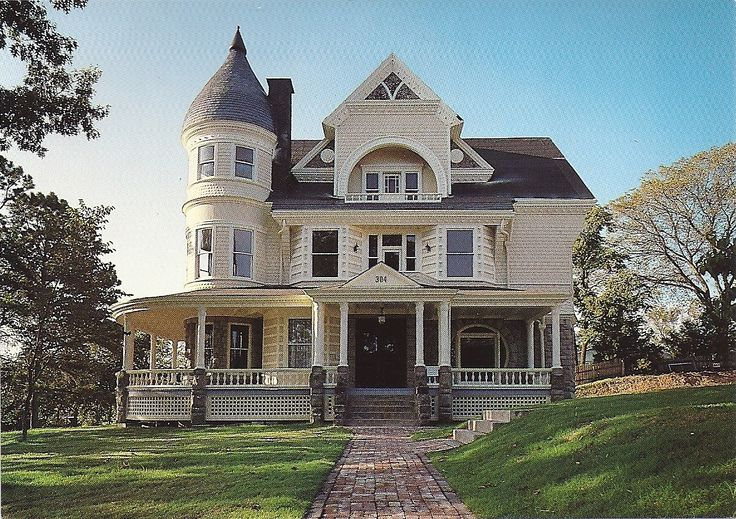 Arkansas postcard eureka springs victorian house for Home builders in arkansas